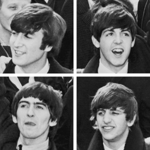 Photograph of The Beatles as they arrive in New York City in 1964   photo/Library of Congress
