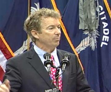 Rand Paul at The Citadel Image/Video Screen Shot