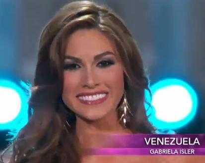 Miss Universe 2013, Gabriella Isler Image/Video Screen Shot