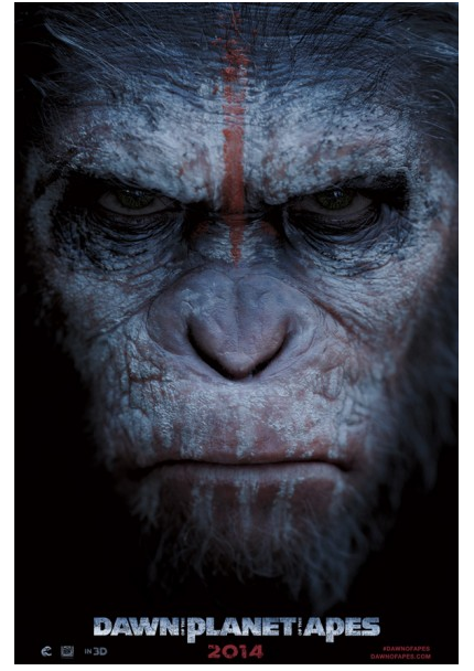 Dawn of the Planet of the Apes poster up close