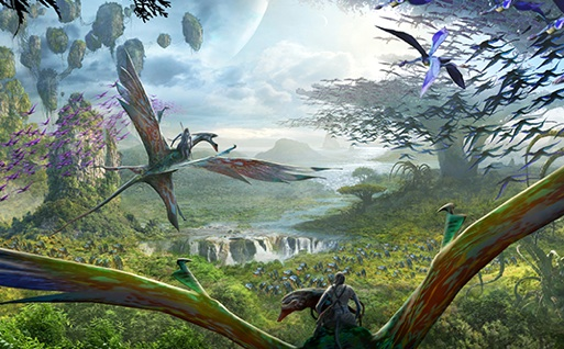 Disney Animal Kingdom World of Pandora Avatar art work