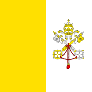 photo Flag of Vatican City, public domain via wikimedia commons