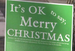 Its ok to say merry Christmas sign