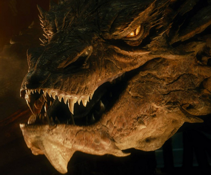 The Hobbit desolation of Smaug dragon photo close up