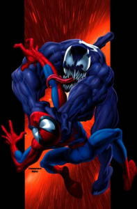 Venom versus Spider-Man marvel comics cover