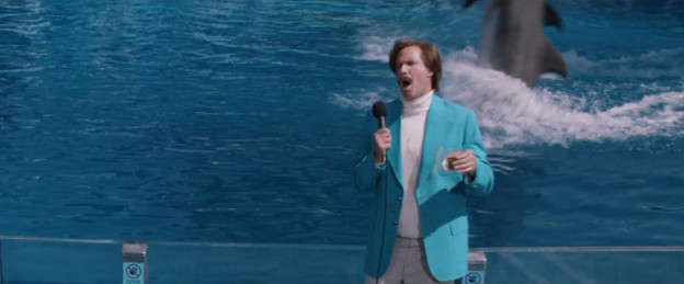 anchorman-2-will Ferrell Seaworld dolphin photo