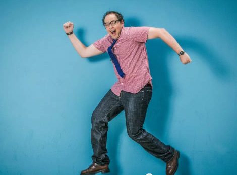 Austin Basis funny pose