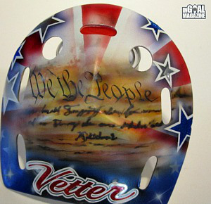 Jessie Vetter Olympic hockey mask We the People