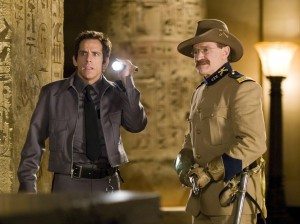 "Ben Stiller and Robin WIlliams as Teddy Roosevelt in ""Night at the Museum"""