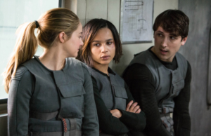 Shailene Woodley, Zoe Kravitz and Ben Lloyd-Hughes Divergent photo