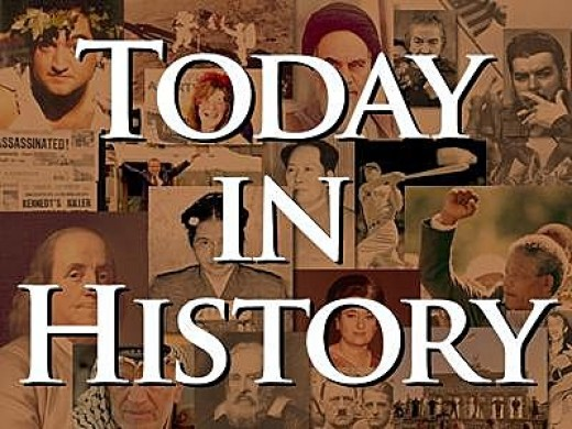 Today in History banner