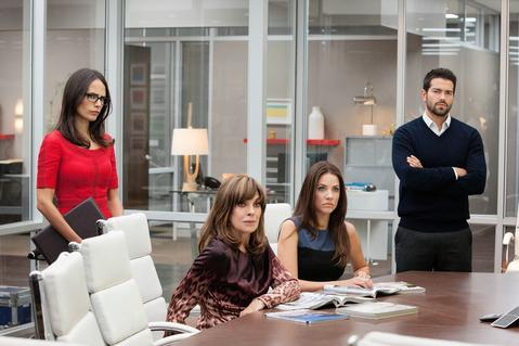 cast photo Dallas season 3 office