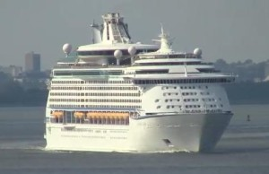 Royal Caribbean's Explorer of the Seas cruise ship Image/Video Screen Shot
