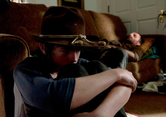 walking-dead-Carl Chandler Riggs Rick photo