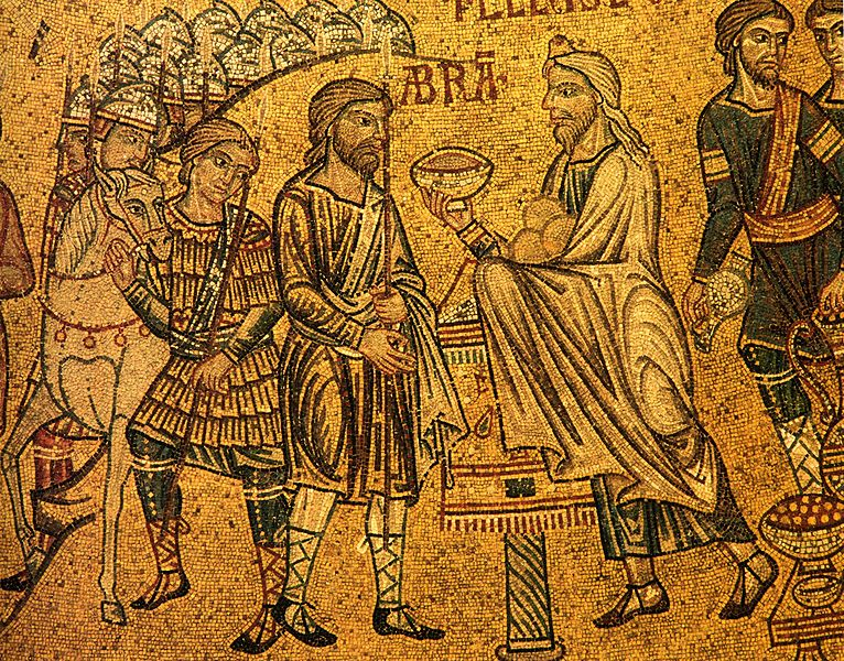 Abraham meets Melchisedeck first priest in Bible