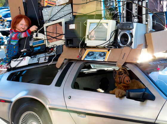 Alf Chuck back to the Future Delorean Radioshack Super Bowl ad