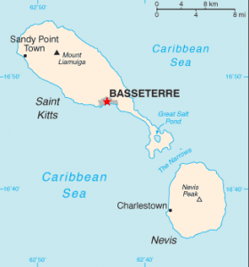 St. Kitts and Nevis map Image/CIA
