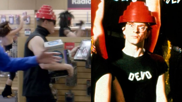 Devo in background Radioshack Super Bowl ad
