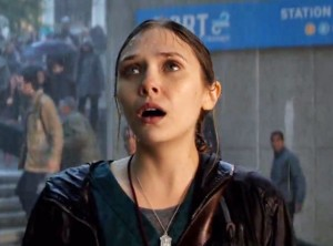 Elizabeth olsen-godzilla photo in the rain