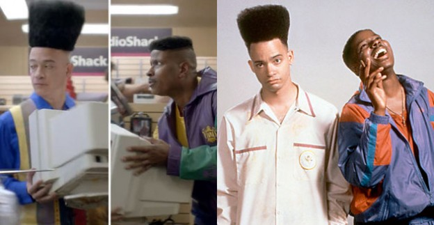 Kid n Play Radioshack ad and photo