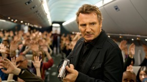 Liam Neeson Non-Stop photo on airplane