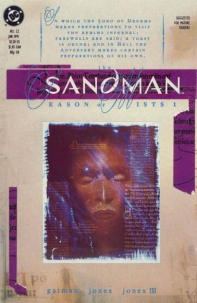 The Sandman 21 Season of the Mists comic book cover