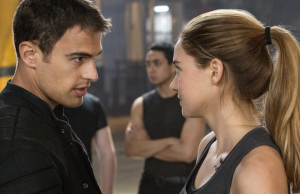 "Theo James and Shailene Woodley will be back for three more films as ""Allegiant"" will be split into two films."
