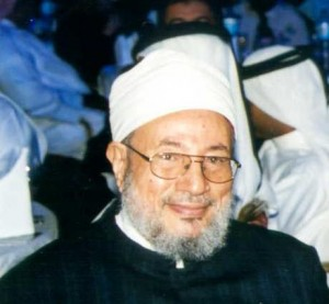Yusuf Al Qardawi at the Third Annual Doha Educational Conference in Doha in February 2006  photo Nmkuttiady via wikimedia commons