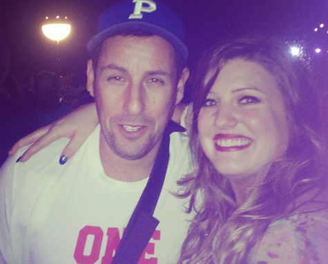 Adam Sandler meeting Sarah Simmons photo