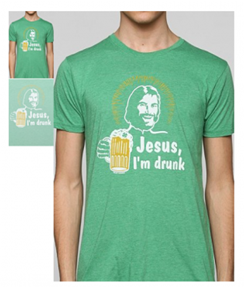 Drunk Jesus tshirt Urban Outfitters