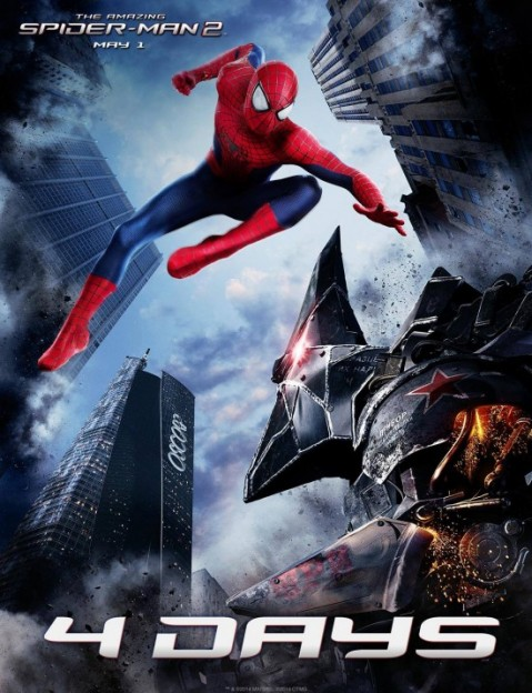 amazing-spider-man-2-vs rhino poster
