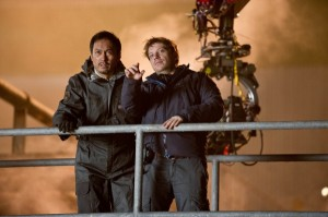 godzilla-ken-watanabe-gareth-edwards on set