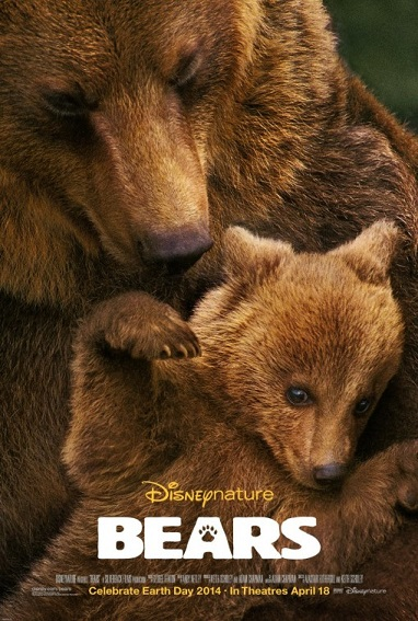 Bears movie poster 2014 Disneynature