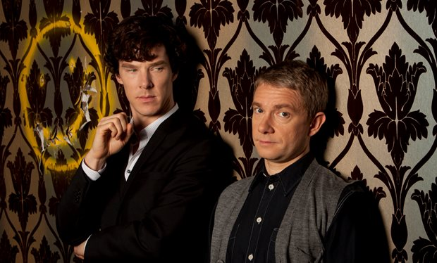 Benedict Cumberbatch Martin Freeman Sherlock photo