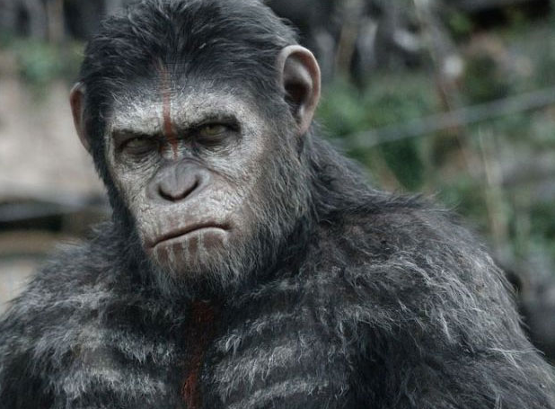 Caesar Andy Serkis Dawn of the Planet of the Apes war paint photo