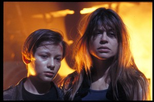 Edward Furlong Linda Hamilton Terminator 2 photo