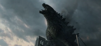 Godzilla roar in trailer