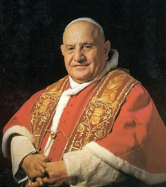 Portrait of Pope John XXIII. photo public domain, released by the Vatican