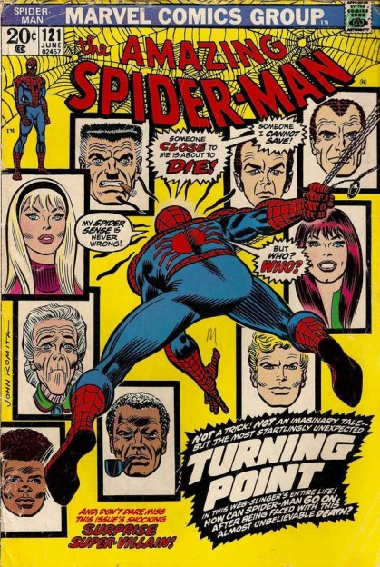 amazing-spider-man-121-comic book cover