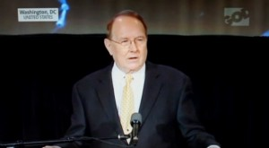 screenshot of video: Dr James Dobson speaking at the Day of Prayer event in Washington D.C.