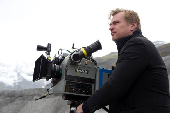 Interstellar-Christopher Nolan on set IMAX camera