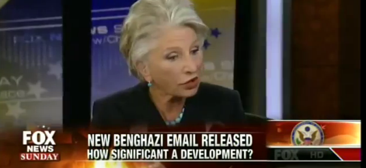 screenshot Jane Harman discussing Benghazi on Fox with Brit Hume