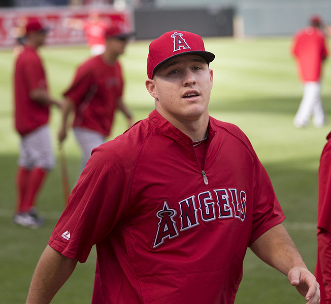 Mike Trout 2013 photo/Keith Allison via wikimedia commons