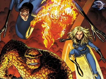 fantastic-four team banner marvel comics