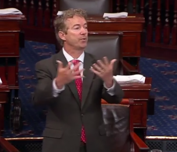 Rand Paul on Senate floor/Video Screen Shot