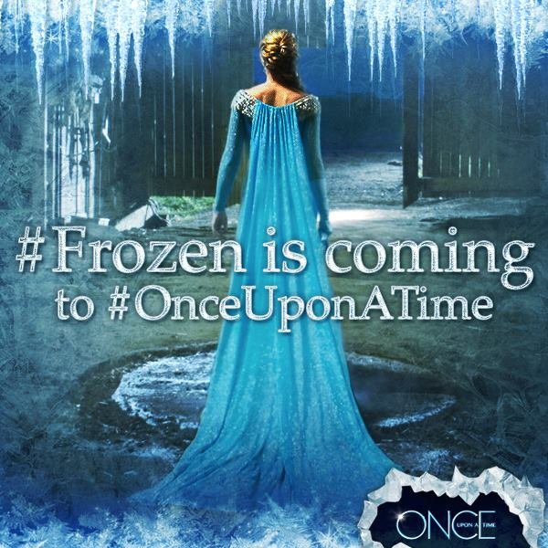 Frozen is coming Once Upon a Time season 4 banner ad