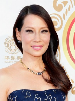 Host Lucy Liu attends the Huading Film Awards on June 1, 2014 at Ricardo Montalban Theatre in Los Angeles, California. Huading Film Awards is China's #1 Film awards, in the U.S. for the first time. (Photo by Joe Scarnici/Getty Images for Huading Film Awards)