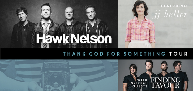 Thank God for Something Tour Hawk Nelson JJ Heller and Finding Favour