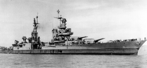 USS Indianapolis in 1945 photo/US National Archives via Edgar Harrell