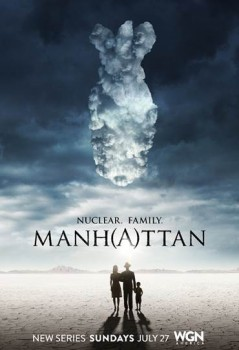atomic bomb cloud Manhattan poster